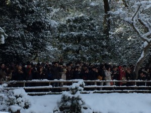 The crowds at Kinkakuji